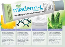 Miaderm-L Radiation Relief Lotion with 4% Lidocaine 4 Oz Tube