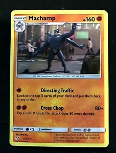 Pokemon Detective Pikachu Machamp - 13/18 - Holo Rare Pokemon Card LP