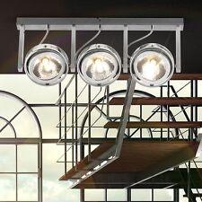 Aluminium Deckenstrahler Decken Chrom Leuchte Strahler Wand Spot Lampe Leiste