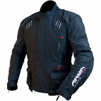 ARMR Moto Kano Waterproof Textile Motorcycle Motorbike Jacket - Black