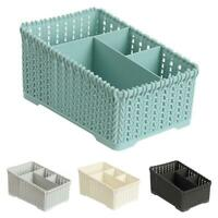 Plastic Makeup Holder Bathroom Desktop Storage Sundries Organizer Basket Welcome