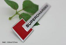 D146 Supercharged auto aufkleber top 3D Emblem Badge Schriftzug car Sticker rot