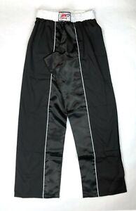 ASC Stand Up Size M / 4 Taekwondo Karate Fighter MMA Pants, Black / White Stripe