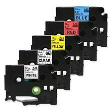 5PK TZe-131 TZe-231 431 531 631 Label Tape 12mm Compatible Brother P-Touch NEW