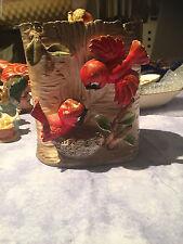 Vintage 1950's RED BIRD COOKIE JAR Angry birds Biscuit Barrel Japan