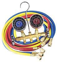 "Robinair 13202 R134 Brass Manifold Set 72"" Hoses"