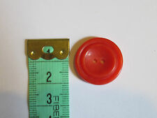 4 22mm Coral 2 Hole Ridged Vintage Buttons 1960-1980s
