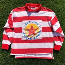 New listing Rare VTG 80s Striped Coca Cola Cycle Club Coke Soda Promo L/S Rugby Shirt L