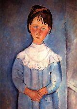 Amedeo Modigliani MÄDCHEN IN BLAU um 1918 FAKSIMILE 14 auf Büttenpapier