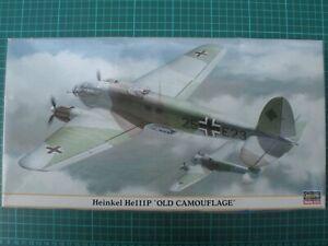 1/72 maquette avion HASEGAWA 00847 Heinkel He111P 'Old Camouflage' KG152