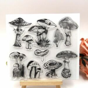 Mushroom Transparent Clear Roller Stamps Scrapbooking Paper Craft Decoration