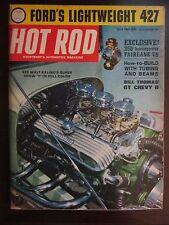 Hot Rod Magazine July 1963 Ford's Lightweight 427 350 HP Fairlane V8 (JJ) AX