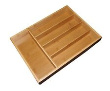 Totally Bamboo Cutlery Tray Drawer Organizer Silverware Flatware Kitchen Tools