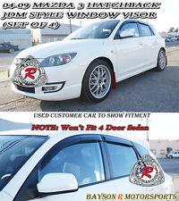 JDM Window Rain Guard Visors (Tinted) Fits 04-09 Mazda 3 5dr