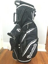 Pre Owned TaylorMade Pure Lite 3.0 Dual Strap Stand Golf Bag Black/White Crown