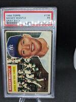 1956 Topps Baseball #135 Mickey Mantle PSA 1 PR - undergraded triple crown mvp