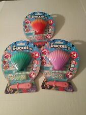 Lil Shuckies Pearl Party Blind Mystery Clam Glitzy Slime Beads lot of 3