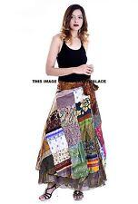 Indian-Vintage Silk Sari Magic Wrap Skirt-Reversible-Long Wrap Skirt Long Dress