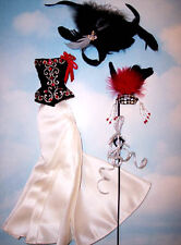 Barbie Doll Sized Fashion/Costume Cape/Mask/Dress For Barbie Dolls mg