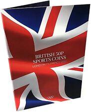 Nuevo 2017 monedas de 2012 50p Edición Londres olímpico deportes moneda álbum de Coleccionistas de caza