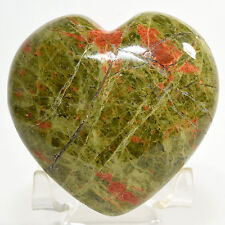 "2.8"" UNAKITE Heart Red Orthoclase in Green Epidote Crystal Mineral Stone - China"
