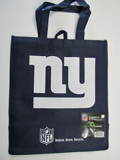 """NY Giants Reuseable Bags Officially Licensed NFL Set of 2 Navy Blue 13x15x7"""" NWT"""