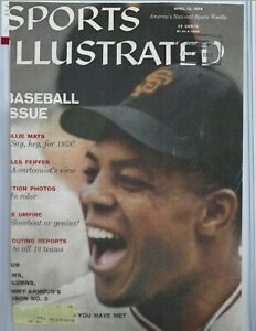Willie Mays SF Giants Baseball Autographed Sports Illustrated Cover PSA Vintage