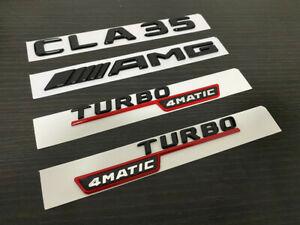 Gloss Black TURBO 4MATIC CLA35 AMG replacement Badge Emblem C118 CLA Class