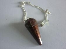 PENDOLINO OCCHIO DI TIGRE ROSSO bue A++ pendolo pietra naturale cristallo wicca