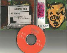 STOMPBOX No Woods RARE RADIO EDIT PROMO DJ CD Single 1994 USA w/ PRINTED LYRICS