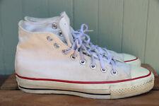 Vtg Converse Made in Usa White Canvas High Top Casual Shoe Men's Sz 6.5