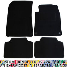 For Peugeot 407 Fully Tailored 4 Piece Black Car Mat Set with 2 Clips