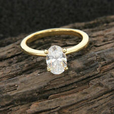 14k Solid Yellow Gold 2.00ct Round Cut Solitaire Engagement Ring