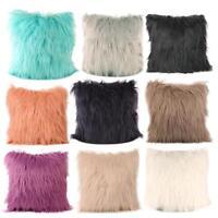 Soft Plush Furry Cushion Cover Throw Pillow Case Home Bed Room Sofa Decor UK