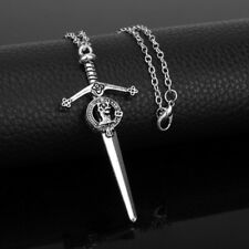 Outlander Deer Sword Pendant Chain Necklace Vintage Silver Copsplay TV Jewelry