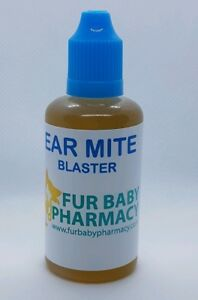 Ear Drops For Cats And Dogs Blasts Ear Mites 100% NATURAL DOG CAT EAR CLEAN 60ML