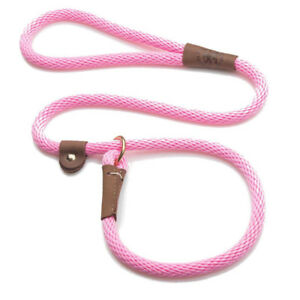 Mendota - Dog Puppy Leash - British Style Slip Lead - Hot Pink - 4, 6 Foot