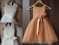 Baby Girls Flower Formal Wedding Bridesmaid Party Christening Dress AGE 2-14 AA