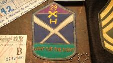 Rare Vietnam vintage lot 29th Ada pocket patch Theater made & other misc items