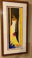 "EMILE BELLET ""Feminite"" LIMITED EDITION HAND SIGNED COLOR LITHOGRAPH Framed COA"