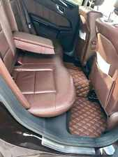 Luxury Bespoke Leather Car Floor Mats Fully Tailored fit Mercedes E W212 2010-