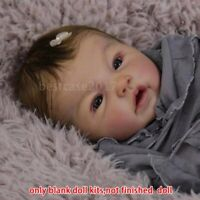 "Handmade 20"" Realistic Reborn Baby Doll Kit Silicone Vinyl Newborn DIY Xmas Gift"