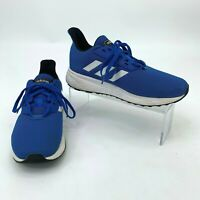 Adidas Running Shoes Youth Kids Size 3 Duramo 9K Blue w/ White Athletic Sports