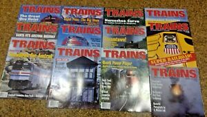 Trains Magazine 1995: Complete Year of 12 Issues (Jan-Dec) Steamtown, Plows, UP