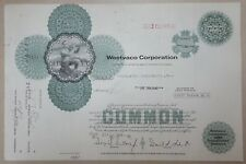 USA Old Decorated Share Stock Certificate Westvaco Corporation 1973