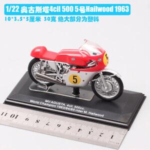 1/22  Agusta 1963 NO5 dirt bike Motocross Diecast model Motorcycle toy