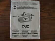 Operating/Safety Instruction Operators Manual Skill Table Saw With Folding Stand