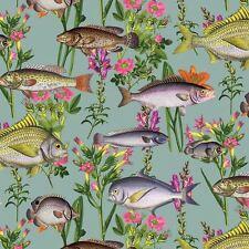 Lagune Fisch & Blumen Unterwasser Luxus Holden Tapete - Blaugrün/Multi 12171