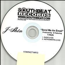 J SHIN & T PAIN Send me an Email RADIO EDIT & INSTRUMENTAL PROMO DJ CD single