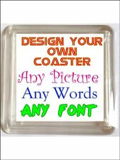 Your Personalised FAMILY PHOTO Coaster. Any picture, any words, any design.
